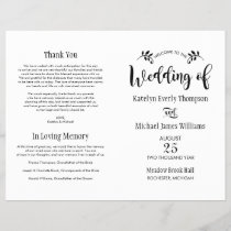 Wedding Ceremony Programs | Black Script