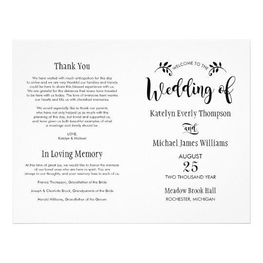 Wedding Ceremony Programs