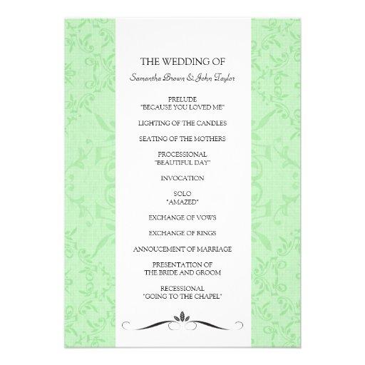 Wedding Ceremony Programs 5 X 7 Invitation Card