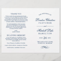 Wedding Ceremony Programs | Navy Classic Elegance