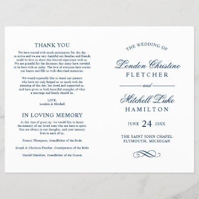 wedding programs gray calligraphy design zazzle com