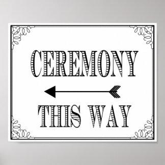 Wedding Ceremony way sign vintage chalkboard