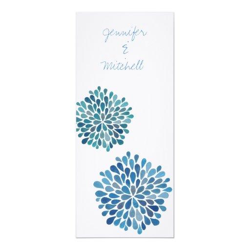 Wedding Cerulean Blue Flower Blooms Invitation