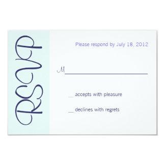 Wedding Champagne Toast RSVP 3.5x5 Paper Invitation Card