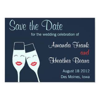 Wedding Champagne Toast Save the Date Card