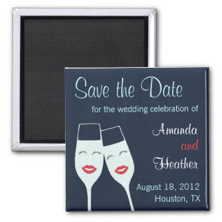 Wedding Champagne Toast Save the Date Magnets