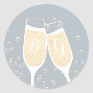 Wedding Champagne Toast Seal