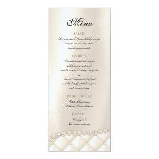 Wedding Chandelier Lighting Ivory Pearls Menu Card