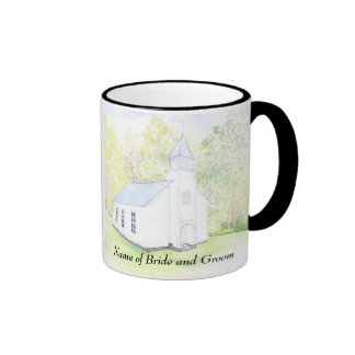 wedding chapel thank you gift mug personalized  .
