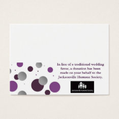 Wedding Charity Favor Card & Place Setting at Zazzle