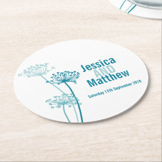 Wedding chervil graphic art paper coasters