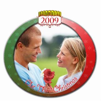 Wedding Christmas Ornament Our 3rd Christmas