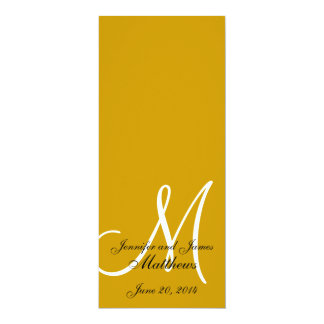 Wedding Church Program Monogram Gold & White