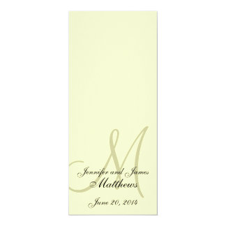 Wedding Church Program Monogram Ivory Cream