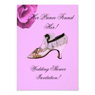WEDDING - CINDARELA LACE SHOE W. ROSE CARD