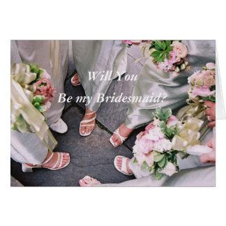 Wedding Circle-Be my Bridesmaid Card