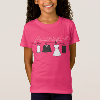 Wedding Clothes (Bride & Groom) Flower Girl * Pink T-Shirt