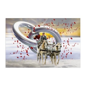 Bride Themed Wedding coach acrylic wall art