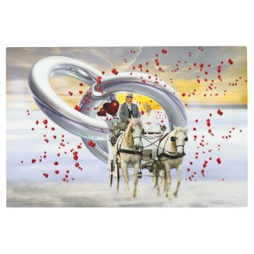Bride Themed Wedding coach metal print