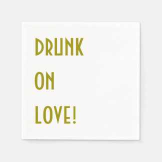Wedding Cocktail Napkin: Drunk on love! Paper Napkin