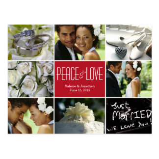 Wedding Collage Holiday Photo Card Postcard Postcard