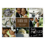 Wedding Collage Thank You Card - Brown Greeting Cards