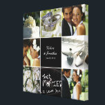 "Wedding Collage Wrapped Canvas<br><div class=""desc"">Personalize this canvas with your wedding photos to create a wall art to treasure forever.</div>"