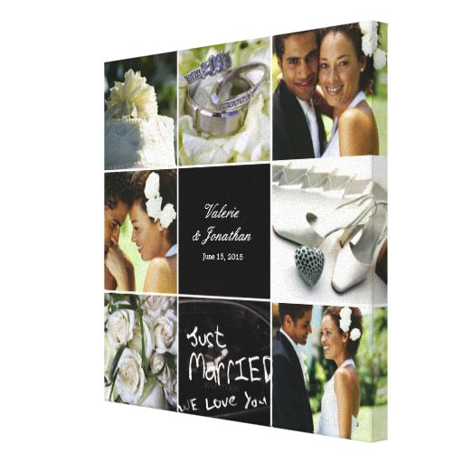 Extra Large Oak Thumbprint Guest Book Tree 26x20 Customized: Wedding Collage Wrapped Canvas Gallery Wrapped Canvas