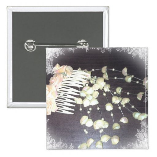 Wedding Comb Pinback Buttons