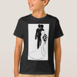 Wedding Concept Bride and Groom Silhouette T-Shirt