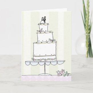 Wedding congrats card card