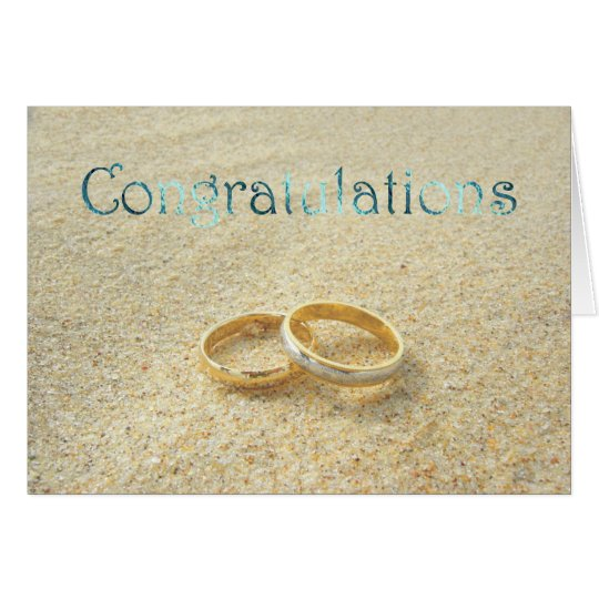 Wedding Congratulations Beach Wedding Congrats Card