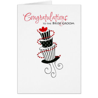 wedding congratulations cake card