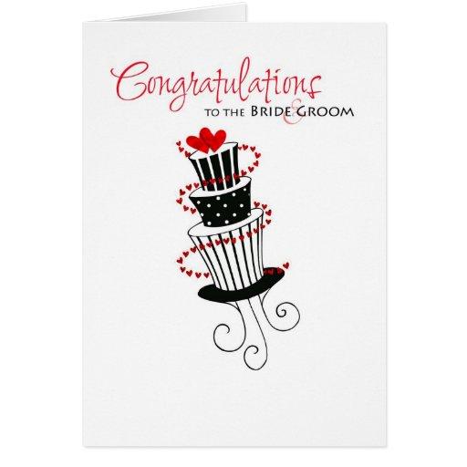 wedding congratulations cake greeting card