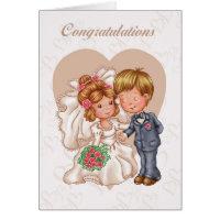 Wedding Congratulations Greeting Card - Bride And