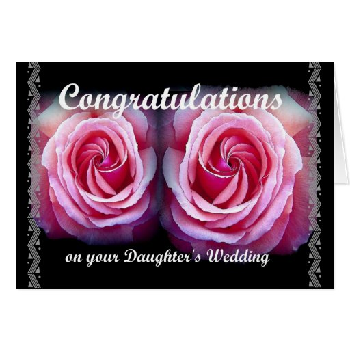 Wedding Congratulations On Your Daughter's Wedding Card