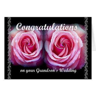 Wedding Congratulations on Your Grandson's Wedding Greeting Card