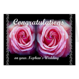 Wedding Congratulations on Your Nephew's Wedding Greeting Card