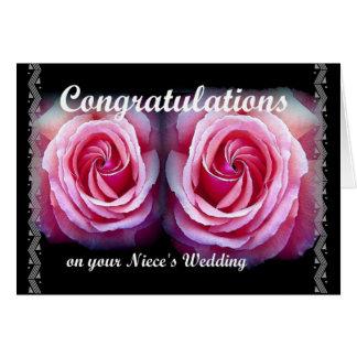 Wedding Congratulations on Your Niece's Wedding Greeting Card