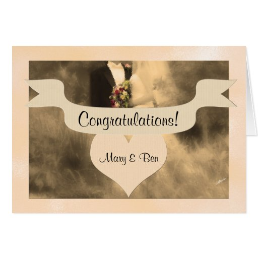 Wedding Congratulations Personalized Couple Cards