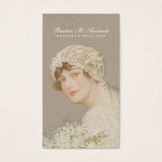 Wedding Consultant Vintage Bride Simple Elegant Business Card