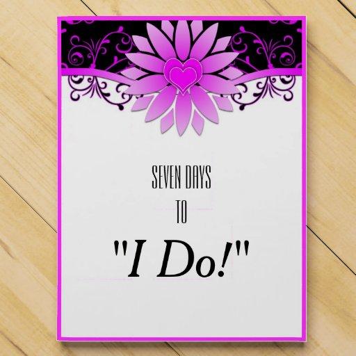1 Year Countdown Wedding Gift : Wedding Countdown Bright Purple & Black Floral Countdown Calendar ...