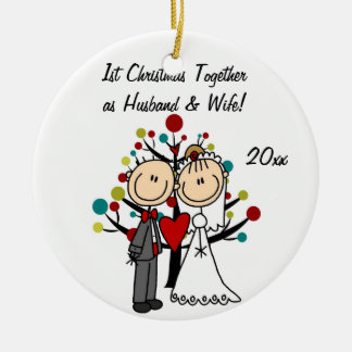 Wedding Couple 1st Christmas Personalized Ornament