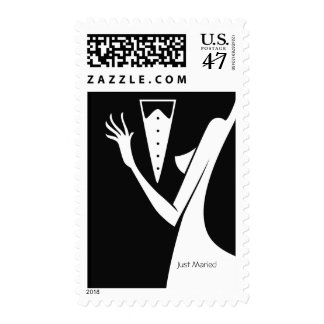 Wedding Couple Bride & Groom Dance To Remember Postage