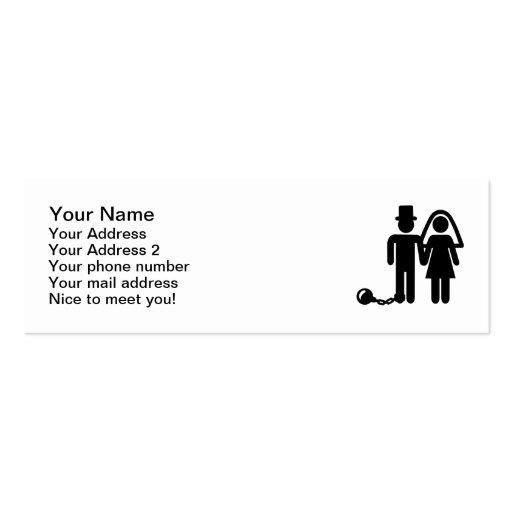 Wedding couple business card templates