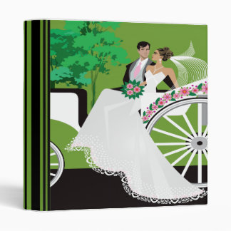 Wedding Couple Carriage Ride Notebook 3 Ring Binders