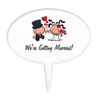 Wedding couple cartoon Cake Pick