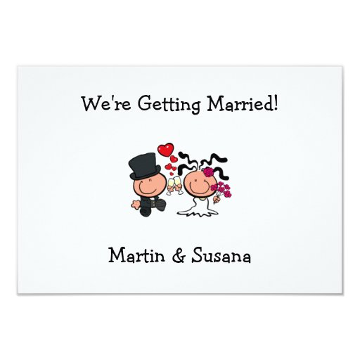 Wedding Couple Cartoon Invitation