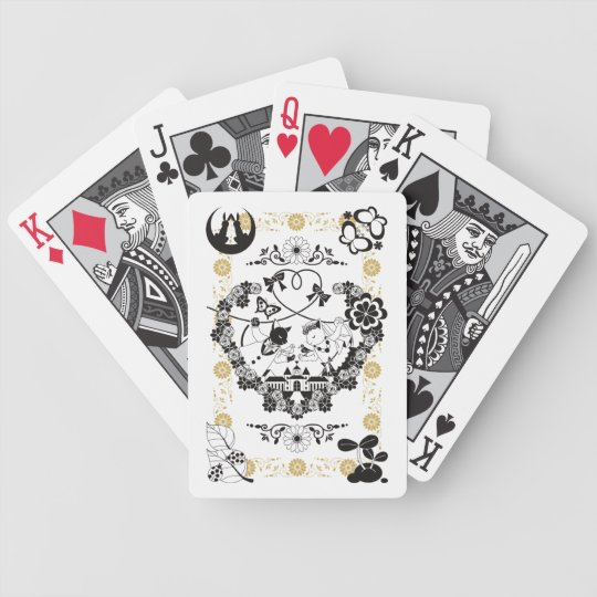 Wedding couple (CAT AND BIRD WEDDING COUPLE) of Bicycle Playing Cards