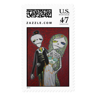Wedding Couple / Day Of The Dead Postage